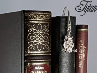 Srebrny zakładka do książki - prezent dla przyjaciółki, mamy na imieniny, urodziny, dzień matki dla szefa, szefowej